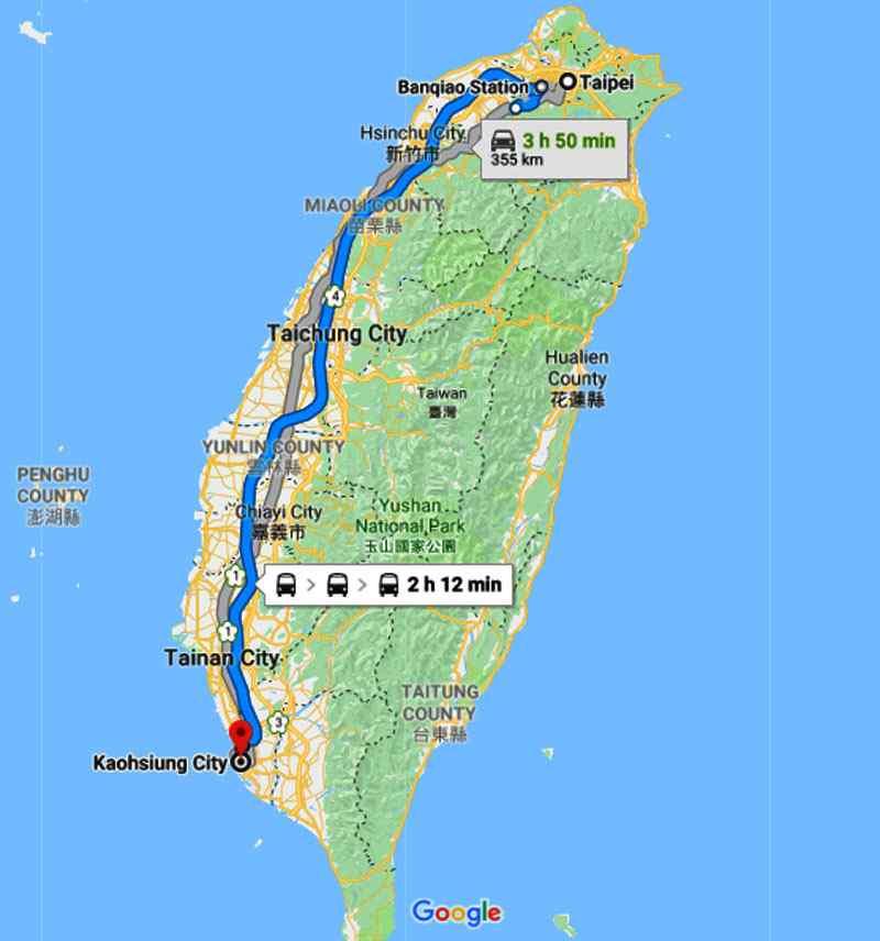 các tỉnh, thành phố của Đài Loan